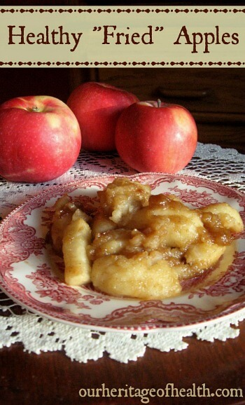"Healthy ""fried"" apples recipe 