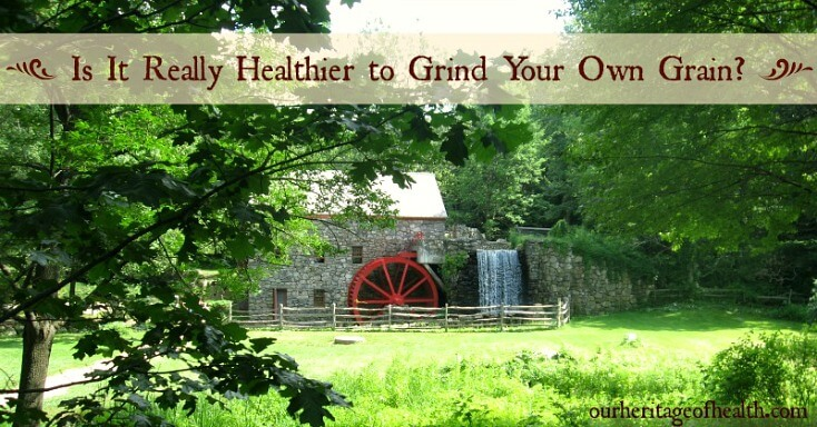 Is it really healthier to grind your own grain? | ourheritageofhealth.com