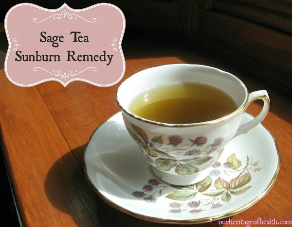 Sage tea sunburn remedy