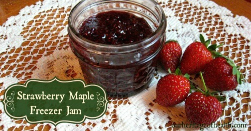 Strawberry Maple Freezer Jam