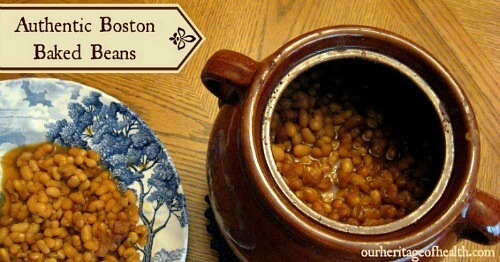 Authentic Boston baked beans