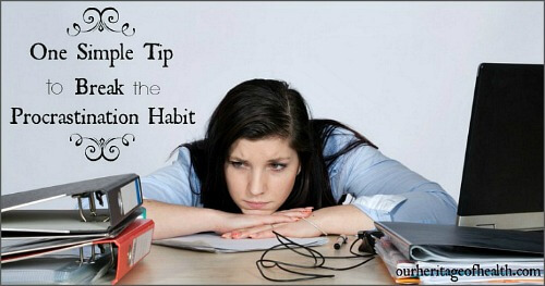 One simple tip to break the procrastination habit