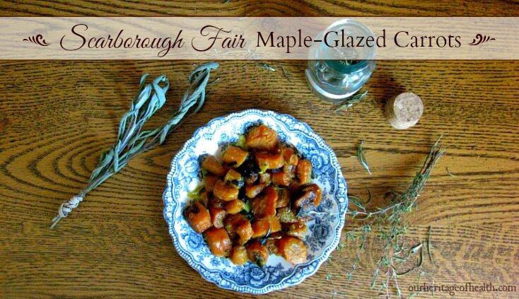 Scarborough fair maple-glazed carrots