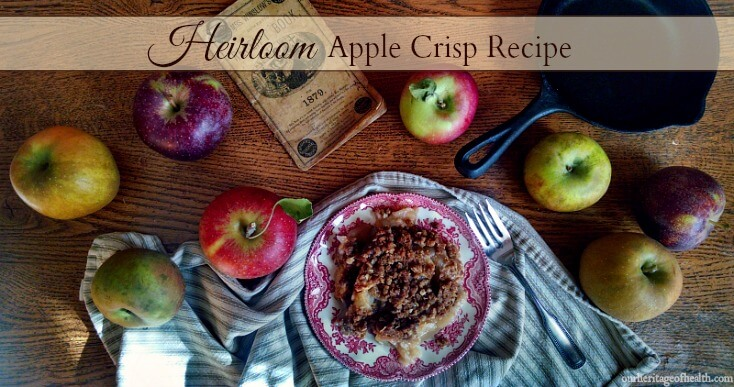 This heirloom apple crisp recipe is the perfect blend of fresh apples and autumn spices.